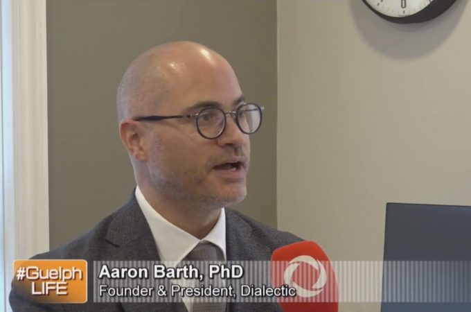 Rogers TV - #GuelphLIFE - 25 Waterloo Dr. Aaron Barth speaking about Dialectic