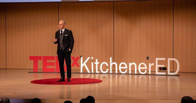 Keynotes and Webinars: Dr. Aaron Barth speaking at TEDxKitchenerED – Why e-learning is killing education