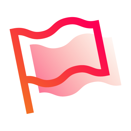 Inclusive Leadership icon - flag