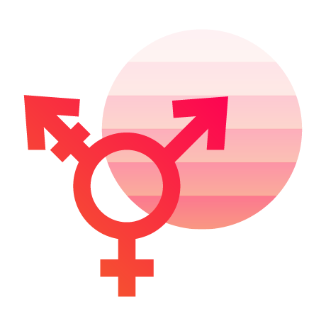 Sexual Expression & Gender Identity​ icon - multiple gender symbol