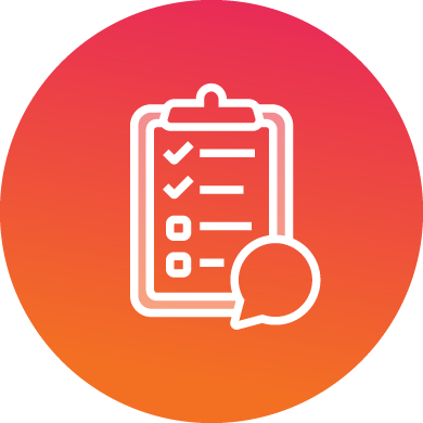 Media Kit - Unveil the truth icon showing clipboard with speech bubble