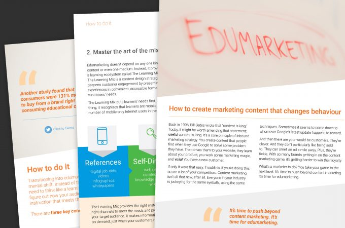 Collage of Edumarketing E-book Managment Resource Pages