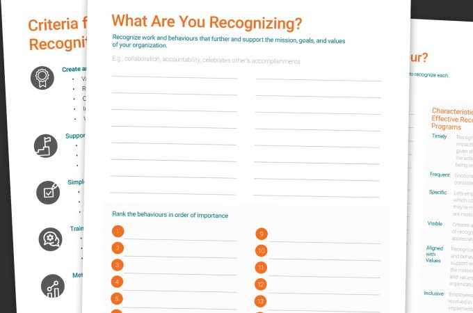 Collage of Pages from Rewards & Recognition Job Aid Management Resource